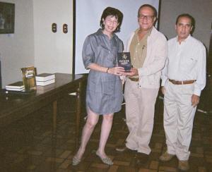 Con autoridades de la UDO: Guillermo García Campos, Director de Cultura y Extensión, y Jesús Subero, Coordinador de Extensión.