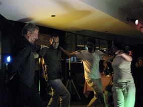 Costa Palamides, Jhonny Rivas, Oswaldo Maccio y Emily Mena