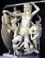 Escila en asalto al barco de Odiseo