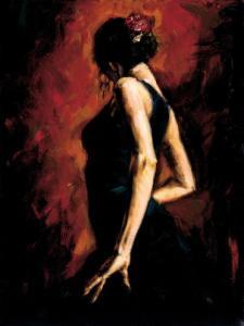 Bailadora de flamenco, por Fabián Pérez