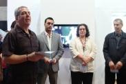 Izquierda a derecha: Costa Palamides (coordinador del evento), representante de la Embajada de Grecia, Elinor Cesín (rectora de UNEARTE) y Spyros Hatgiconstantis (representante de la Comunidad Ortodoxa Griega de Venezuela)